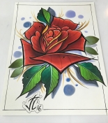 All finished with this #prismacolor #marker rose. #prints will be available justincoppolino.com reserve yours today will only be a limited run. Thanks #tattoos #artlife #tattoosafterdark #justintattoo