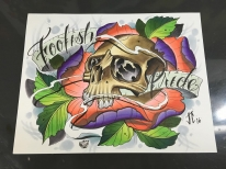 Did a little art for @foolishpridetattoo this past week. #prismacolor #markers #tattoos #justintattoo #tattoosafterdark #art #artlife #stpete