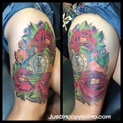 watchflowerlegtattoo