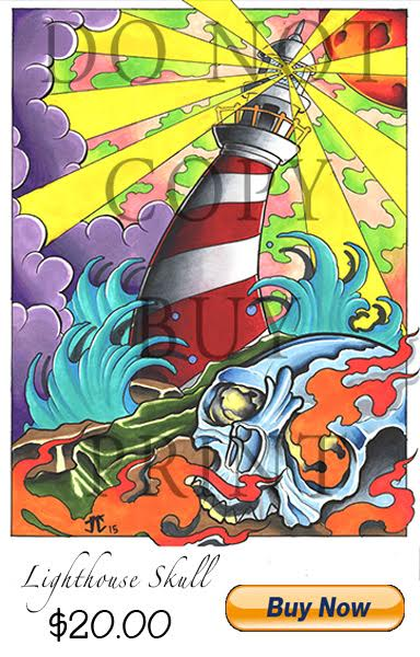 Lighthouse Color Print