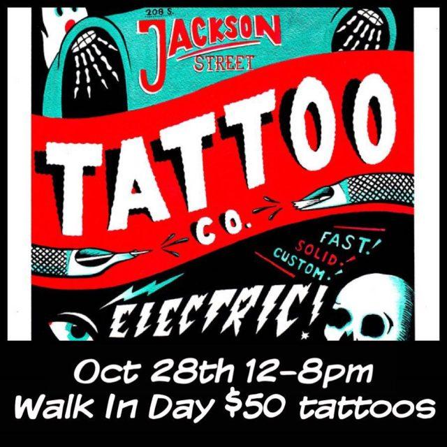 Next Saturday oct 28th jacksonstreettattoocompany is doing a special walkhellip