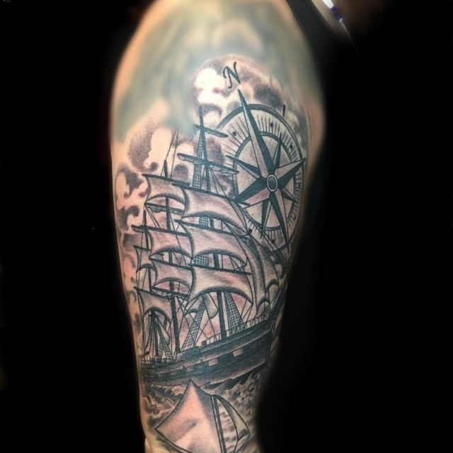Tattooed this ship the Star of Alaska on an awesomehellip