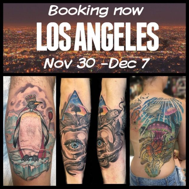 Hey I will be tattooing in Los Angeles and havehellip