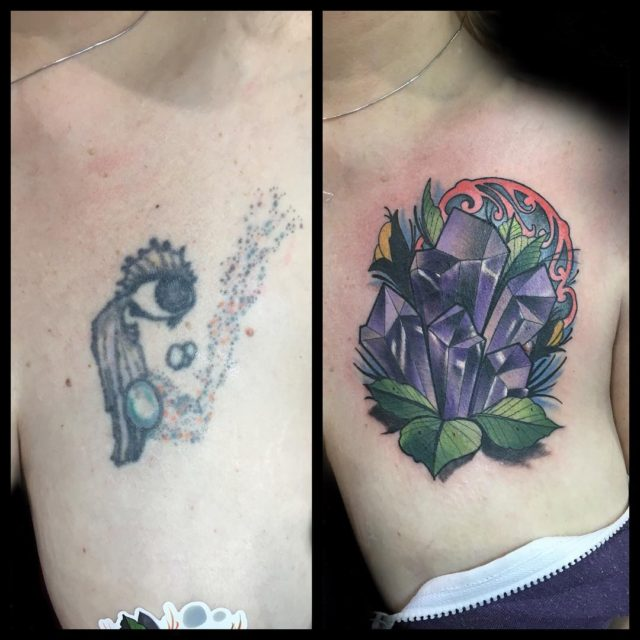Heres a coverup that I did in philly at thehellip